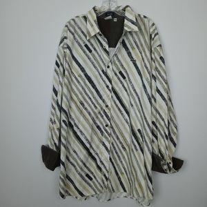 Lacoste men's button down shirt size 4X